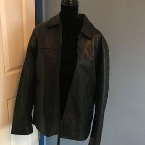 Men's genuine leather coat